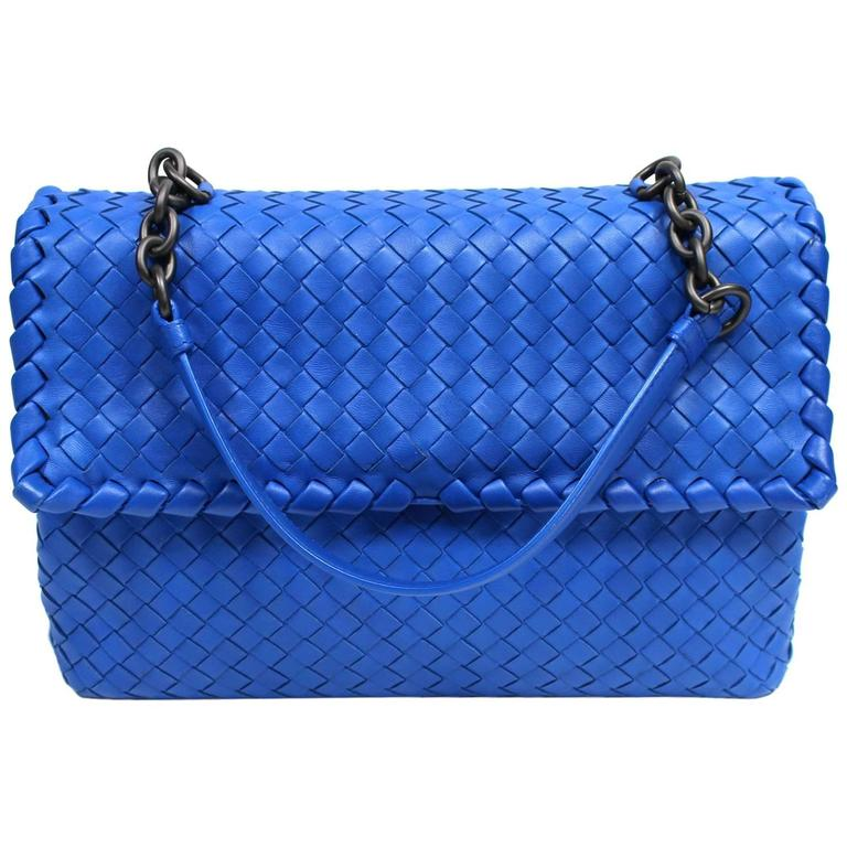 Bottega Veneta Royal Blue Medium Olimpia Bag 1