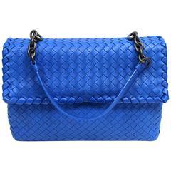 Bottega Veneta Royal Blue Medium Olimpia Bag