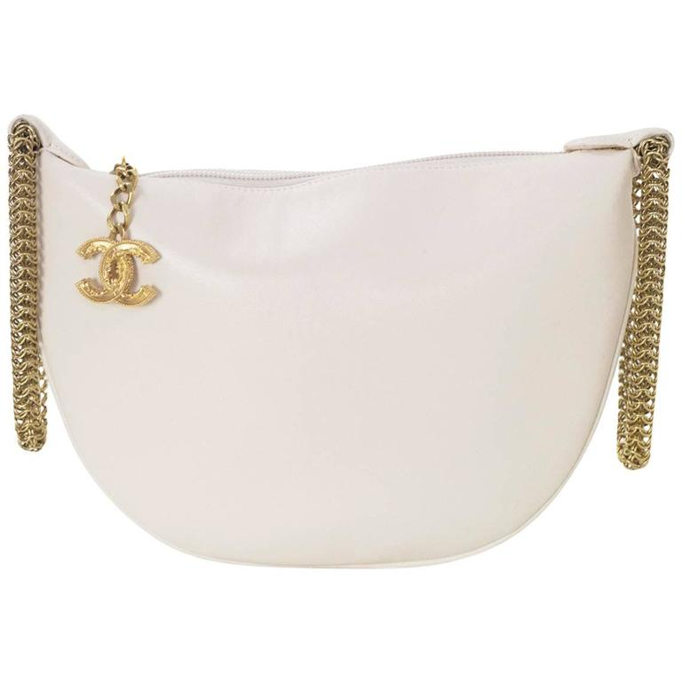 Chanel Blush LeDouble Chain Bracelet Wristlet Bag 1