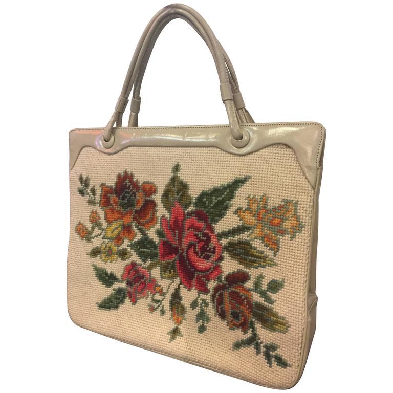 1950's Rosenfeld Floral Tapestry Handbag