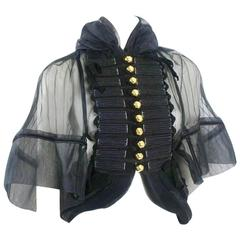 Tao Comme des Garcons 2008 Collection Pleated Military Top