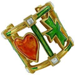 Christian Lacroix Vintage Iconic Cuff Bracelet