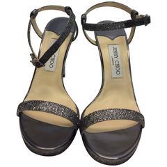 Jimmy Choo NIB Glitter Strap Heels