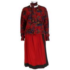 Lanvin Paris Numbered Skirt Suit