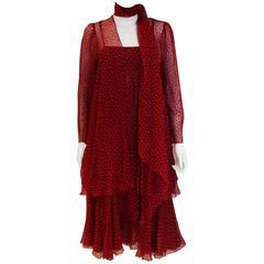 Christian Dior Paris Evening Dress, Jacket and Scarf