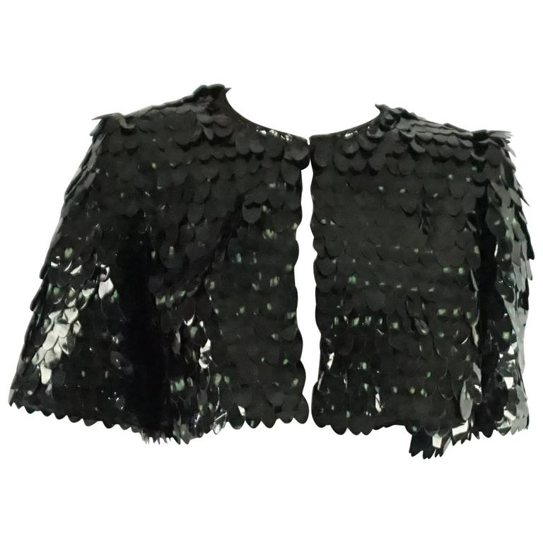 Marc Jacobs Dark Green Pailette Sequin Bolero - 4  For Sale