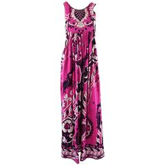 Leonard Pink, Black, and White Print Jumpsuit - 36