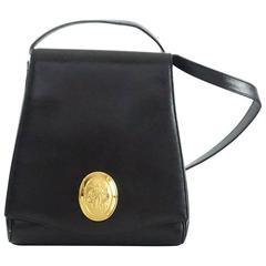 Nina Ricci Vintage Black Leather Shoulder Bag - 1990's