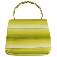 Salvatore Ferragamo Chartreuse Gros Grain Handbag