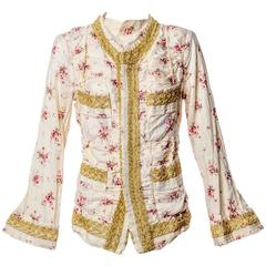 Junya Watanabe Comme des Garcons S/s 2008 Liberty Floral Gold Lace Runway Jacket