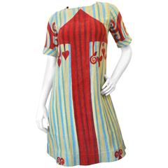 1970s Rikma Arrow Print Mini Dress
