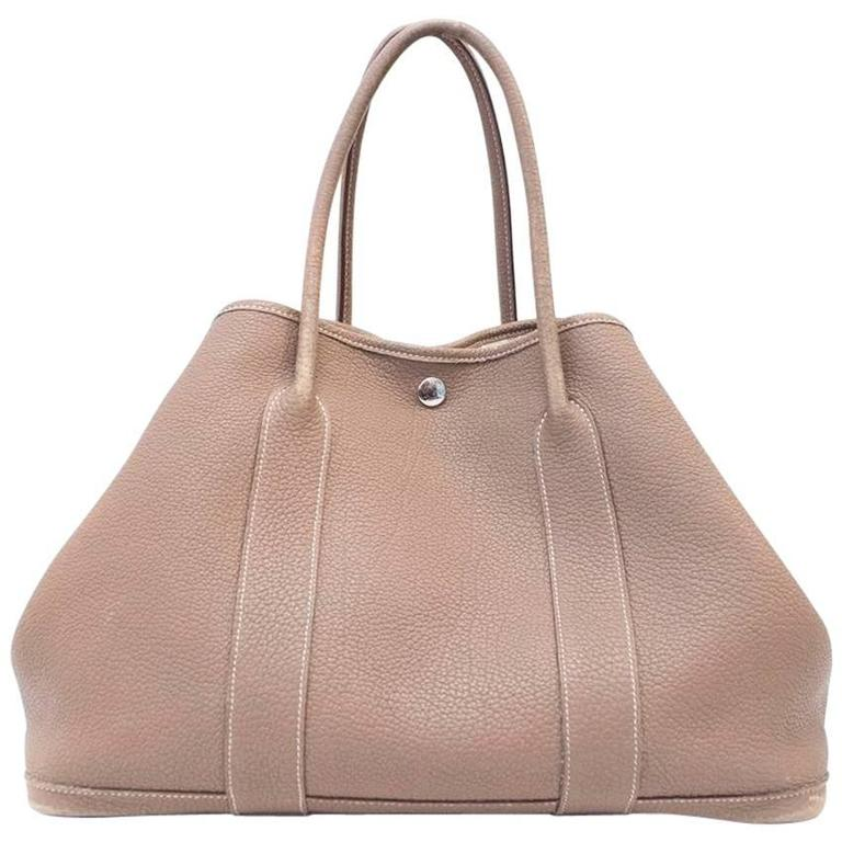 87a927097a92 Hermes Taupe Garden Party 36 Tote For Sale. Hermes Garden Party 36 tote bag  in taupe negonda leather