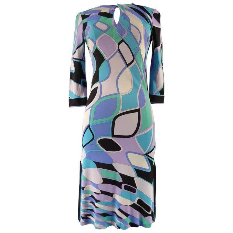 Emilio Pucci Blue Graphic Dress