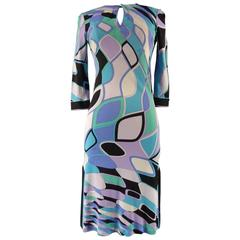 Emilio Pucci Blue Graphic Dress