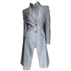 1999 Alexander McQueen Silk Shirt and Long Jacket