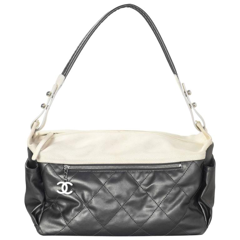 Chanel Silver and Ivory  Paris-Biarritz Large Hobo Bag 1