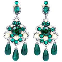 Larry Vrba Huge Chandelier Earrings