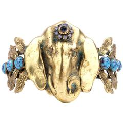 Joseff of Hollywood Brass Elephant Clamper Cuff