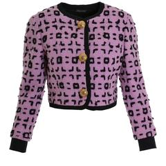 1990s GIANNI VERSACE Atelier Boucle Wool Bolero Jacket