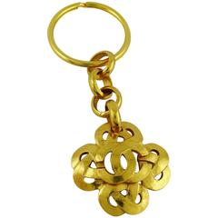 Chanel Spring 1997 Gold Toned Key Ring / Bag Charm