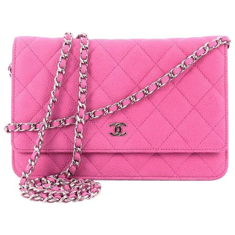 Chanel Wallet on Chain Quilted Matte Caviar For Sale