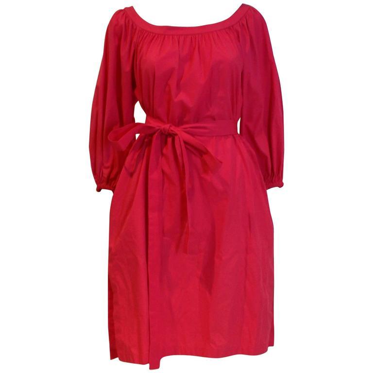 Yves Saint Laurent Rive Gauche Pink Dress 1