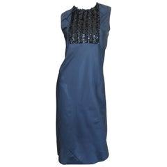 1990s Helmut Lang Sublime Sequin Bib Dress