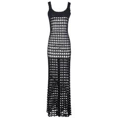 Todd Oldham Crochet Maxi Dress