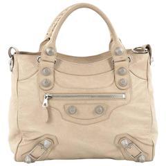 Balenciaga Velo Giant Studs Handbag Leather