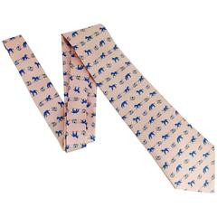 Men's Vintage Hermes Tie, OH BABY! Adorable Pony & Rocking Horse Whimsy
