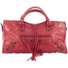 Balenciaga Part Time Classic Studs Handbag Leather