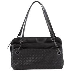 Bottega Veneta Compartment Chain Shoulder Bag Intrecciato Nappa Medium