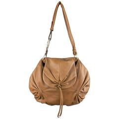YVES SAINT LAURENT by TOM FORD 2003 Brown Leather Gathered Shoulder Bag