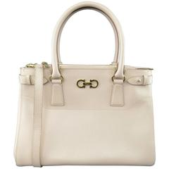 SALVATORE FERRAGAMO Pink Batik Leather Due Handles Tissu Handbag