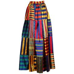 Todd Oldham Multi Striped Patches Ballgown Skirt, Fall 1992
