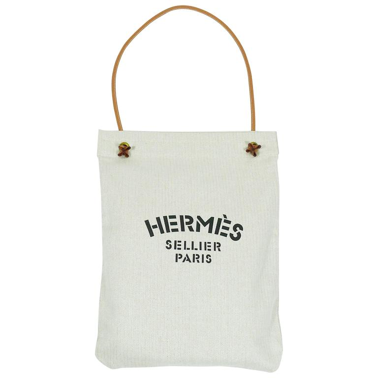 Hermes Vintage Aline Xl Canvas Tote Bag For