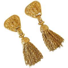 1994 Chanel Chain Tassel Earrings