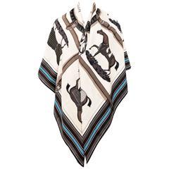 Hermes Couvertures et Tenues de Jour Unisex Cashmere Silk Shawl Classic