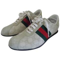Gucci white textile sneakers