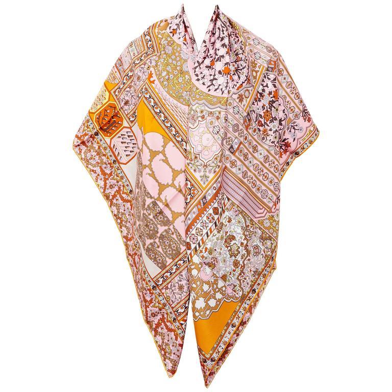 hermes tapis persans giant silk gm shawl scarf 140cm. Black Bedroom Furniture Sets. Home Design Ideas