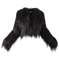 Alaia black goat hair jacket