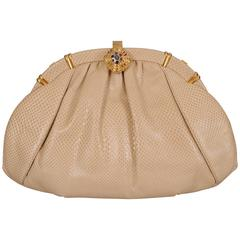 Pristine Judith Leiber Karung Clutch Bag Never Used