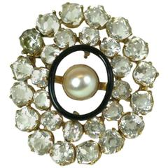 Edwardian Crystal Paste and Gold Brooch