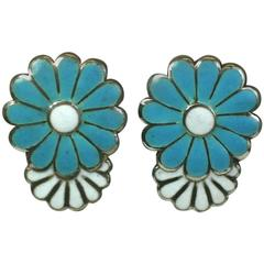 Margot de Taxco Enamel Earrings