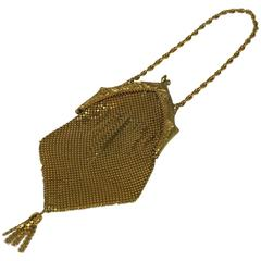 Art Deco Brass Mesh Dance Purse