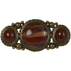 Agate and Antique Bronze Brooch, Stephen Dweck