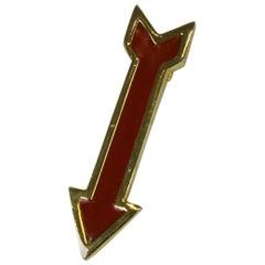 Enamel Red Arrow Clip/Pendant