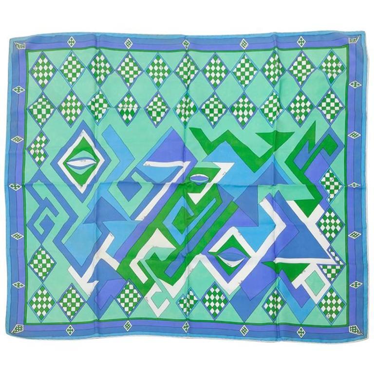 Emilio Pucci Printed Silk Scarf  1