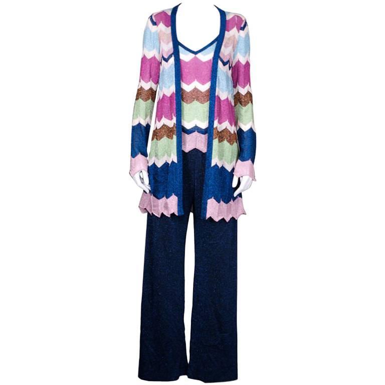 Missoni Lurex  Knit Pant Suit