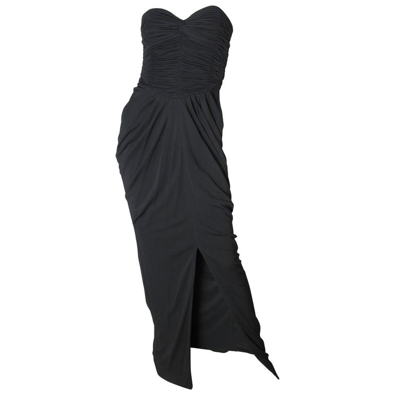 Vicky Tiel Strapless Evening Gown For Sale at 1stdibs